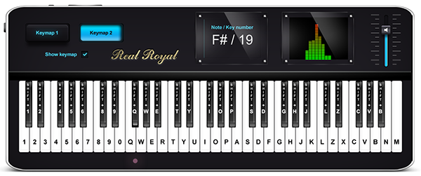 Virtual piano online. Play music on keyboard.